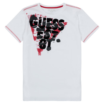 Clothing Boy Short-sleeved t-shirts Guess MILLO White