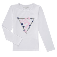 Clothing Girl Long sleeved tee-shirts Guess MONICA White