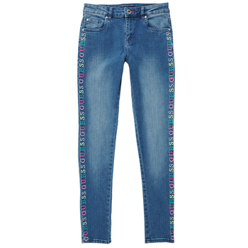 Clothing Girl Slim jeans Guess LOUISA Blue