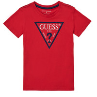 Clothing Boy Short-sleeved t-shirts Guess THOLMA Red