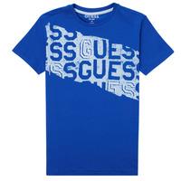 Clothing Boy Short-sleeved t-shirts Guess LISTIN Blue