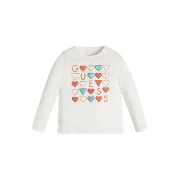 Clothing Girl Long sleeved tee-shirts Guess KANTY White