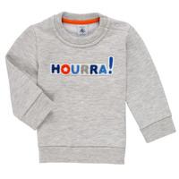 Clothing Boy Sweaters Petit Bateau TERRI Grey