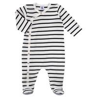 Clothing Children Sleepsuits Petit Bateau ONZER White / Marine