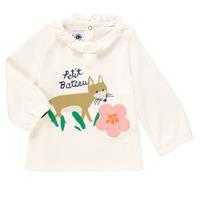 Clothing Girl Long sleeved tee-shirts Petit Bateau ENLEVE White