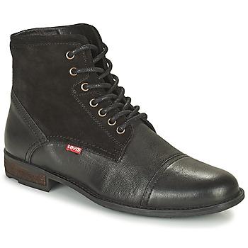 Shoes Men Mid boots Levi's FOWLER 2.0 Black