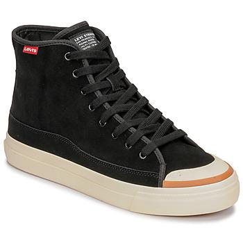 Shoes Men Hi top trainers Levi's SQUARE HIGH Black