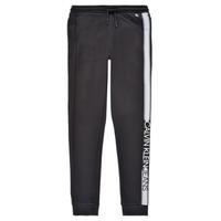 Clothing Boy Tracksuit bottoms Calvin Klein Jeans RESPIRA Black
