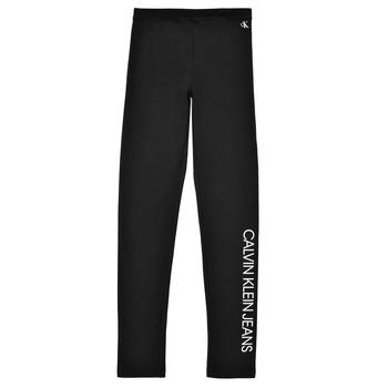 Clothing Girl Leggings Calvin Klein Jeans MERCA Black