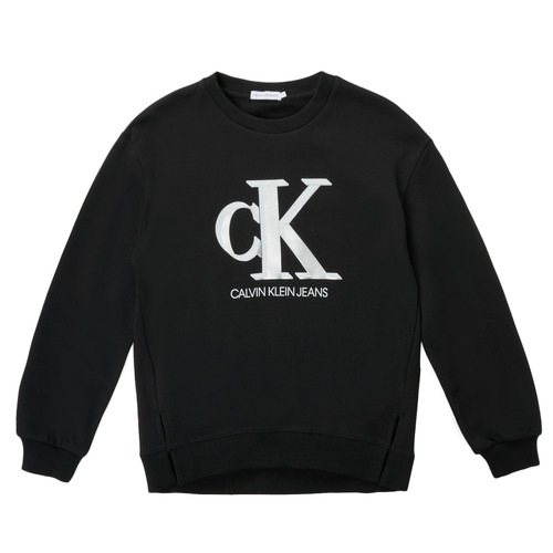Clothing Girl Sweaters Calvin Klein Jeans POLLI Black