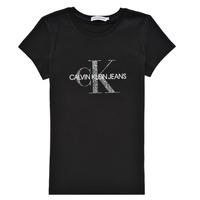 Clothing Girl Short-sleeved t-shirts Calvin Klein Jeans VOYAT Black