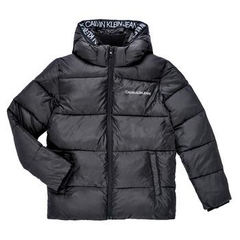 Clothing Boy Duffel coats Calvin Klein Jeans LITHERA Black