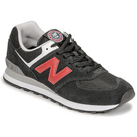 Shoes Men Low top trainers New Balance 574 Black / Red