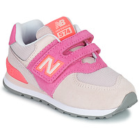 Shoes Girl Low top trainers New Balance 574 Pink / Purple