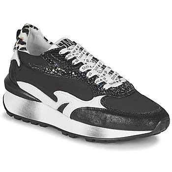 Shoes Women Low top trainers Semerdjian MARI Black / White