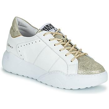 Shoes Women Low top trainers Semerdjian KYLE White / Gold