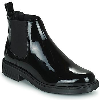 Shoes Women Mid boots Clarks  Black
