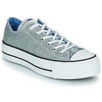 Shoes Women Hi top trainers Converse CHUCK TAYLOR ALL STAR LIFT HYBRID SHINE OX Silver