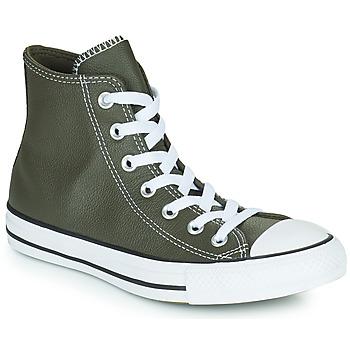 Shoes Hi top trainers Converse CHUCK TAYLOR ALL STAR SEASONAL LEATHER HI Kaki