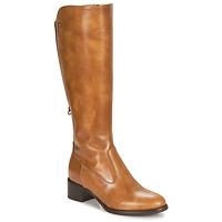 Shoes Women High boots NeroGiardini FEVO Cognac