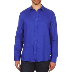 Clothing Men long-sleeved shirts Chevignon SPEED LINEN Blue