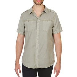 Clothing Men short-sleeved shirts Chevignon HOOP TWILL BEIGE