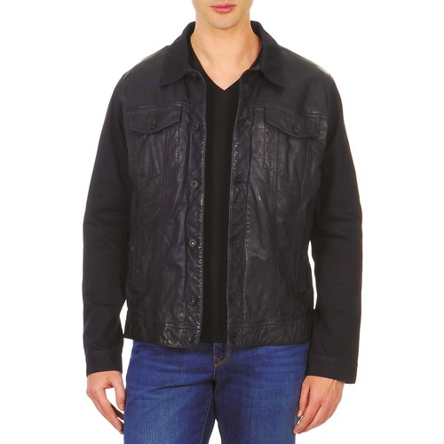 Clothing Men Leather jackets / Imitation leather Chevignon BREWA Blue / Marine
