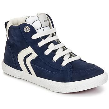 Shoes Boy Hi top trainers Geox KIWI BOY Marine