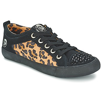 Shoes Women Low top trainers Diesel LEOPAR Black
