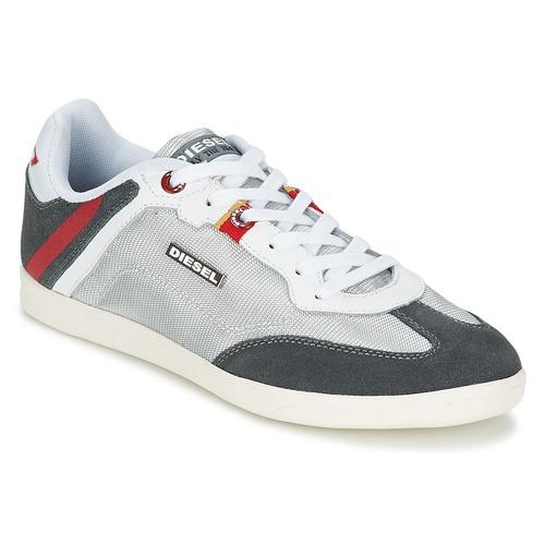 Shoes Men Low top trainers Diesel Basket Diesel Silver