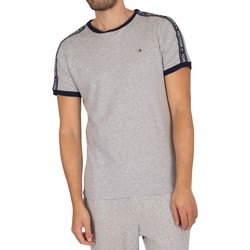 Clothing Men Sleepsuits Tommy Hilfiger Lounge Branded Taping T-Shirt grey