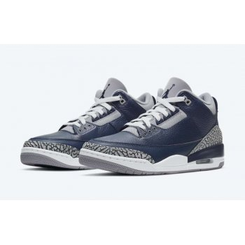 Shoes Low top trainers Nike Air Jordan 3 Midnight Navy Midnight Navy/Cement Grey-White