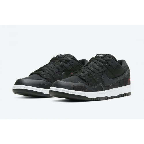 Shoes Low top trainers Nike SB Dunk Low Washed Youth Black/University Red-White-Black