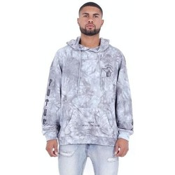 Clothing Men Sweaters Sixth June Sweatshirt  Custom Tie Dye gris anthracite/rose hibiscus