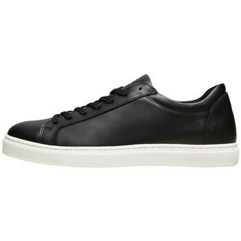 Shoes Men Low top trainers Selected Baskets  Evan cuir trainer black