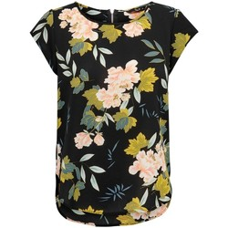 Clothing Women Tops / Blouses Only Haut femme  Vic manches courtes black faye flower