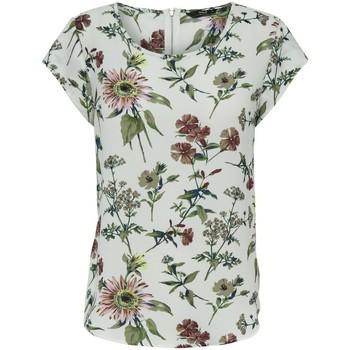 Clothing Women Tops / Blouses Only Haut femme  Vic manches courtes cloud dancer botanical