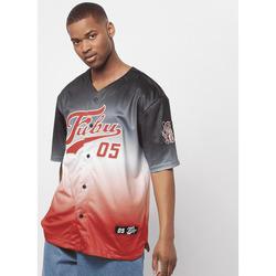 Clothing Men Short-sleeved t-shirts Fubu Maillot  Varsity Baseball noir/blanc/rouge