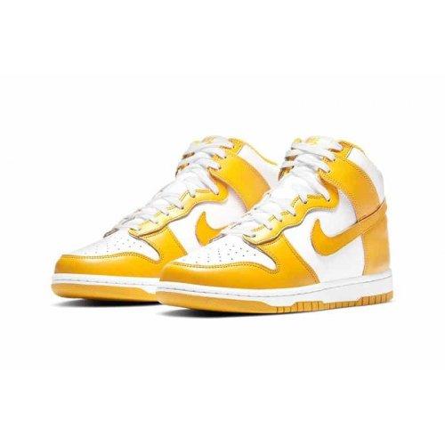 Shoes Hi top trainers Nike Dunk High Dark Sulfur White/Dark Sulfur-White