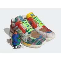 Shoes Low top trainers adidas Originals ZX 8000 x Sean Wotherspoon Superearth Off-White/Blue Bird/Red