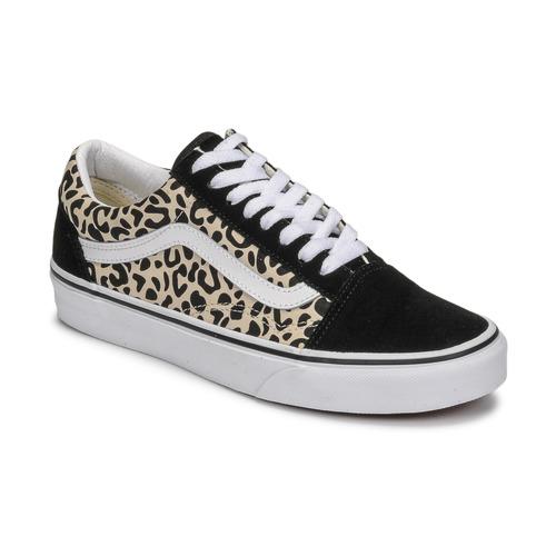 Shoes Women Low top trainers Vans OLD SKOOL Black / Beige