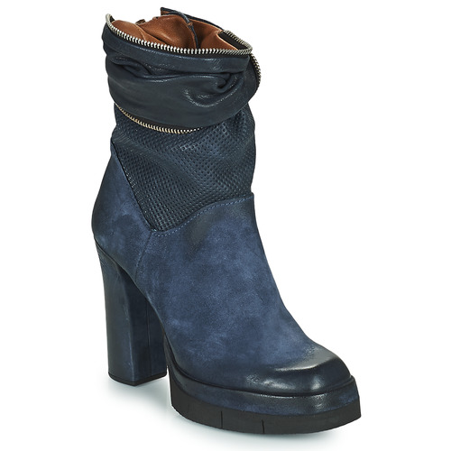 Shoes Women Ankle boots Airstep / A.S.98 BLOC ZIP Blue