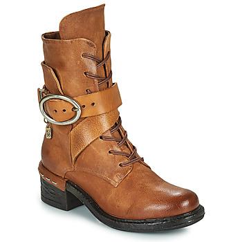 Shoes Women Ankle boots Airstep / A.S.98 NOVASUPER LACE Camel