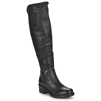 Shoes Women Thigh boots Airstep / A.S.98 NOVASUPER HIGH Black