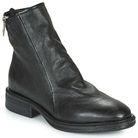 Shoes Women Mid boots Airstep / A.S.98 FLOWER ZIP Black
