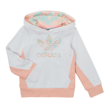 Clothing Girl Sweaters adidas Originals SOLAL White / Pink