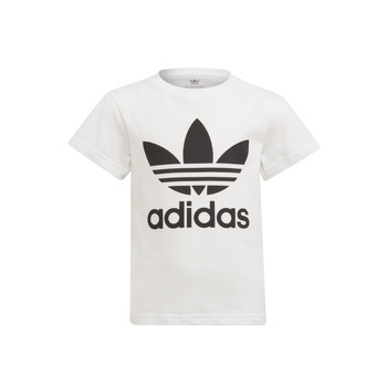 Clothing Children Short-sleeved t-shirts adidas Originals FLORE White