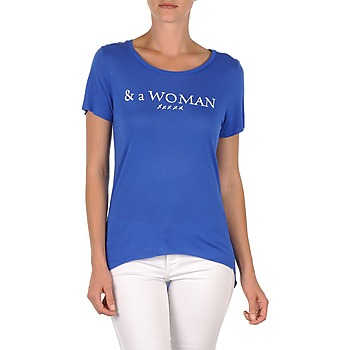 Clothing Women short-sleeved t-shirts School Rag TEMMY WOMAN Blue