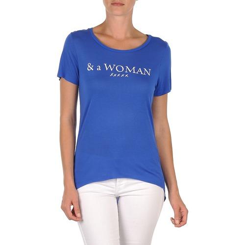 Clothing Women short-sleeved t-shirts School Rag TEMMY WOMAN Blue