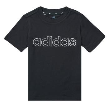 Clothing Boy Short-sleeved t-shirts adidas Performance SAMINA Black